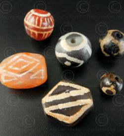 Perles decorees birmanes BD262. Cités-états Pyu/Tircul, Birmanie.