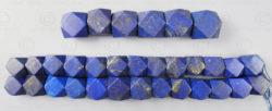 Perles lapis NBD4D. Lapis lazuli afghan, taillé en Inde.