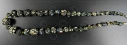 Perles verre Gabri noires 13SH44B. Afghanistan.
