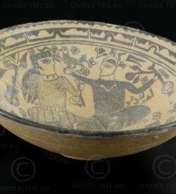Persian ceramic plate AFG79. Afghanistan, province of Nuristan.