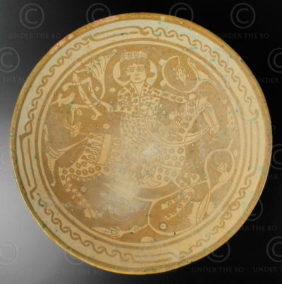 Persian ceramic plate AFG79B. Afghanistan, province of Nuristan.