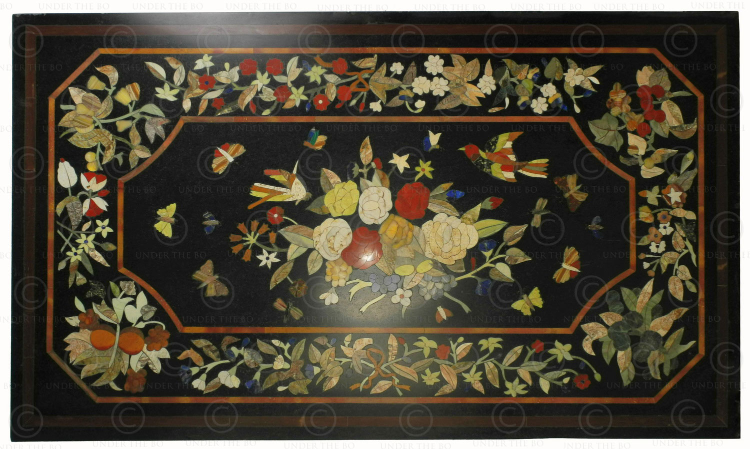 Pietra dura style table top IN10