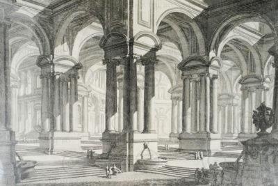 Piranese engraving FR10. Engraved in Rome around 1743.
