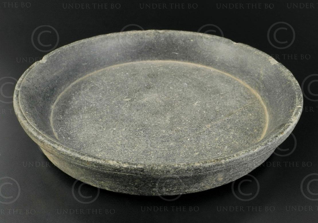 Plat Pyu pierre BU529. Ancienne Birmanie centrale.