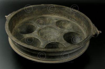 Poële à mouler en bronze IN569. Inde du sud.