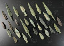 Pointe de flèches parthes bronze AFG92A. Royaume indo-parthe, trouvées en Afghan
