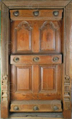 Porte indienne H6-00. Style de Madras, Tamil Nadu. Inde du sud