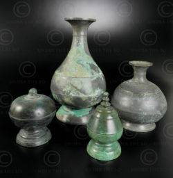 Pots bronze khmers 14KM3. Empire khmer (Cambodge).