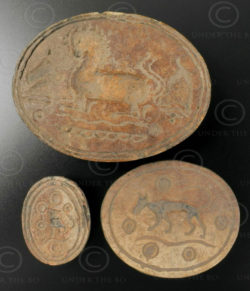 Pyu bone seals BU468C. City of Pegu (renamed Bago), Burma.