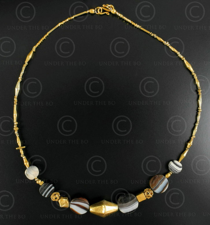 Pyu gold necklace 454. Burma and Thailand.
