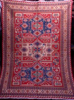 Kazak sumak Z181. Woven Caucasian carpet.