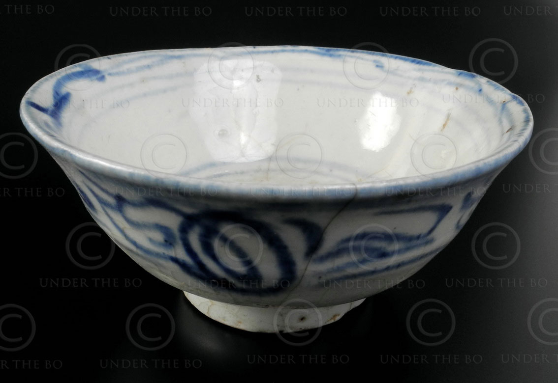 Qing porcelain Bowl T225B. Imperial China.