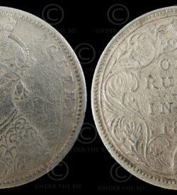 Victoria silver rupee C188A. India, 1874.