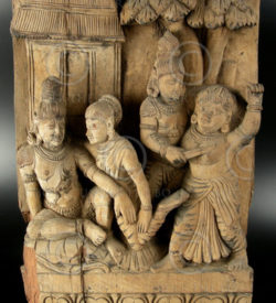 Indian statue IN320 Element of a temple chariot (Rama & Sita), Tamil Nadu, 17-18