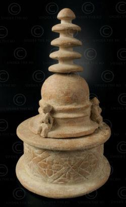 Reliquaire stupa Gandhara PK170. Trouvé dans la vallée de Swat, Pakistan.
