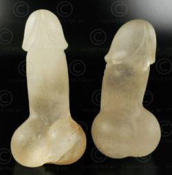 Rock crystal phalluses FV60. Design François Villaret.