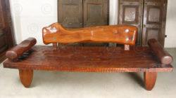 Rustic couch FV120. Design François Villaret, Under the Bo workshop, Thailand.
