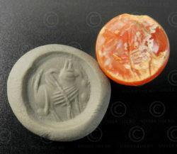 Sassanian cornelian seal 13SH2B1. Afghanistan. Sassanid empire.