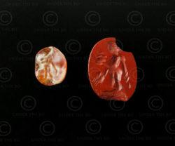 Sassanian seals BD40D, cornelian, Afghanistan. Sassanian empire