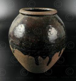 Sawankhalok jar T329. Sawankalok kilns, ancient Siam (Thailand).