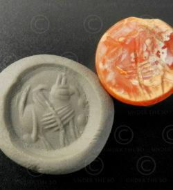 Sceau cornaline sassanide 13SH2B1. Afghanistan. Empire Sassanide.