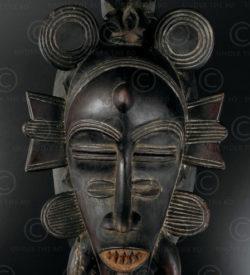 Senufo wooden mask 12OL06. Senufo culture, Ivory Coast, West Africa.