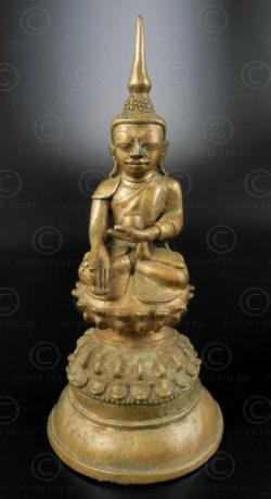 Shan bronze Buddha BU491. Northern Burma.
