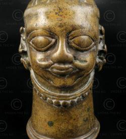 Bronze Shiva head 16P2A. Karnataka state, Southern India.
