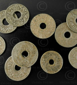 Siam holed coins C184. Bangkok, Kingdom of Siam (Thailand).