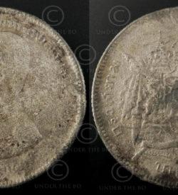 Siam nickel coin C234. Rattanakosin (Bangkok) period, Siam (Thailand).