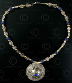 Silver and lapis necklace 295. Under the Bo workshop