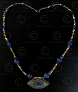 Silver and lapis necklace 296. Under the Bo workshop