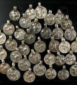 Silver dog pendants BD126. North India.