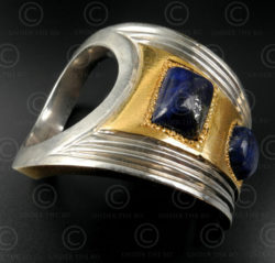 Silver and gold ring R270. Designed by François Villaret.