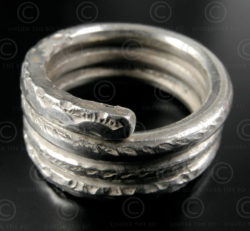 Silver spiral ring R232A. North West India.