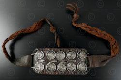 Silver spirals wristband B176. François Villaret design, with old Lanna silver.
