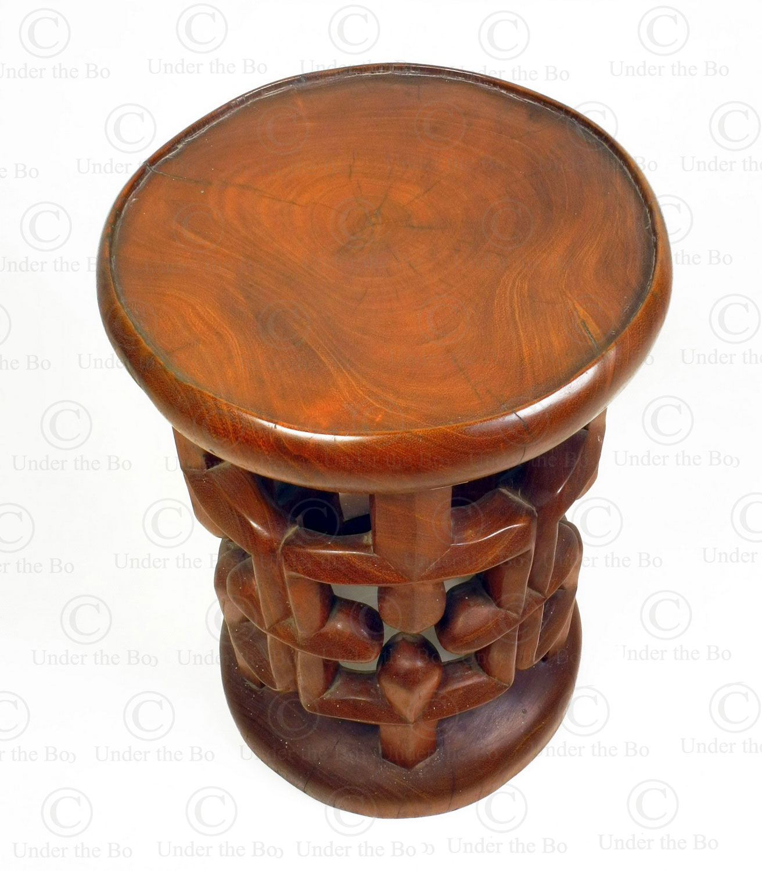 Solid Wood Bamileke Tribal Stool Fv318d