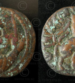 Kushan bronze coin C252A. Kushan Empire.