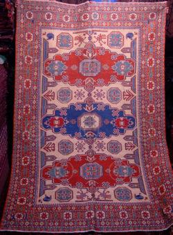 Soumak Kazak Z179. Tapis tissé caucasien.