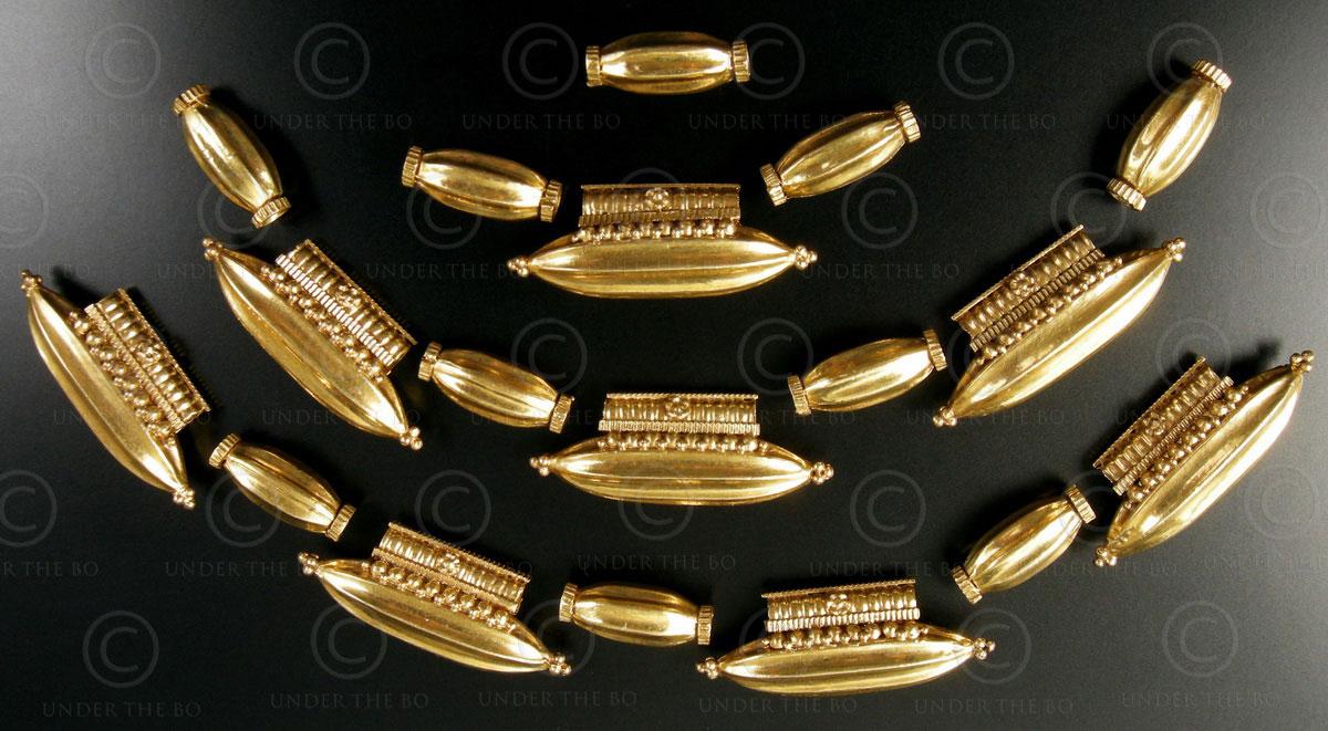 South Indian gold beads BD115. Kerala or Tamil Nadu, Southern India.