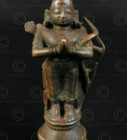 Bronze standing Bharat 16P40. Tamil Nadu, Southern India.