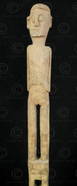 Statue Borneo protecteur champs BO185. Culture Iban, Sarawak/ouest Kalimantan, î