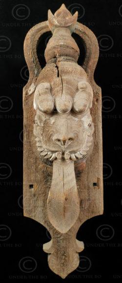 Statue lion indienne H42-02. Kerala du sud. Inde