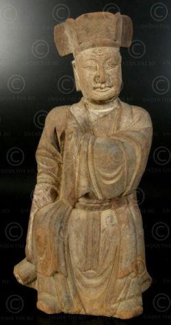 Statue taoiste chinoise YA126C. Minorité Yao Lantien, Chine du sud.