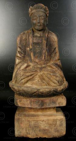Statue taoiste chinoise YA150F. Minorité Yao Lantien, Chine du sud.