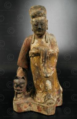 Statue taoiste chinoise YA88A. Minorité Yao Lantien, Chine du sud.