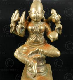 Statuette Durga bronze 16P32. Etat du Karnataka. Inde du sud.