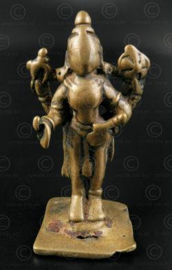 Statuette Vishnou debout bronze A229. Région de Bombay, état du Maharashtra, Ind