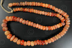 Strand ancient cornelian beads BD247. Sourced in various parts of India.