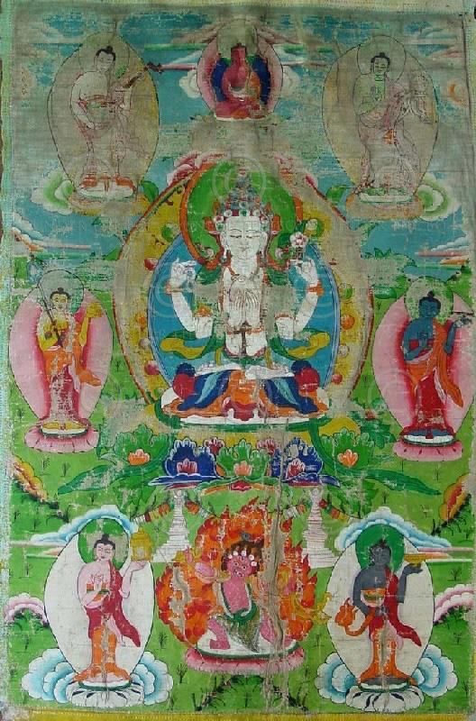 Tamang minority Avalokiteshvara thangka, Nepal
